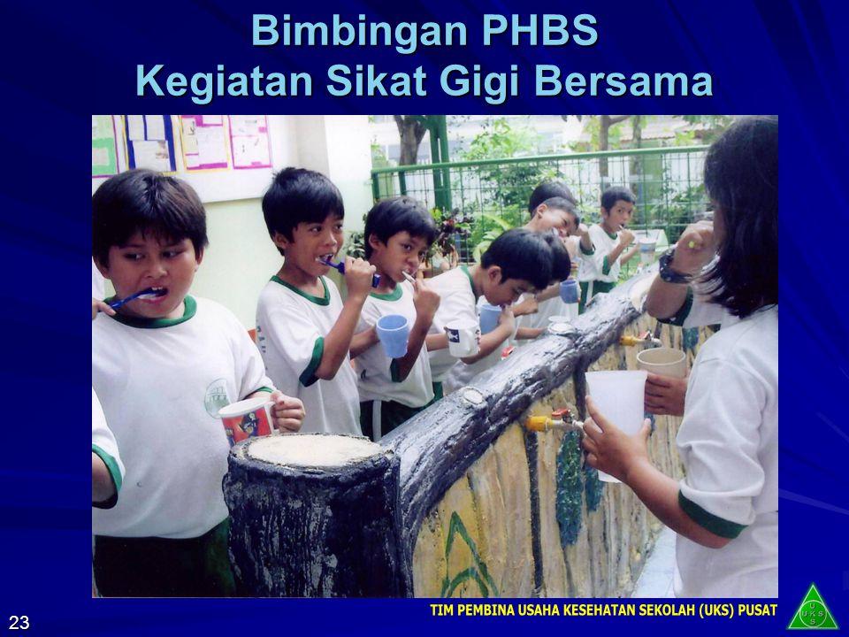 Bimbingan PHBS Kegiatan Sikat Gigi Bersama