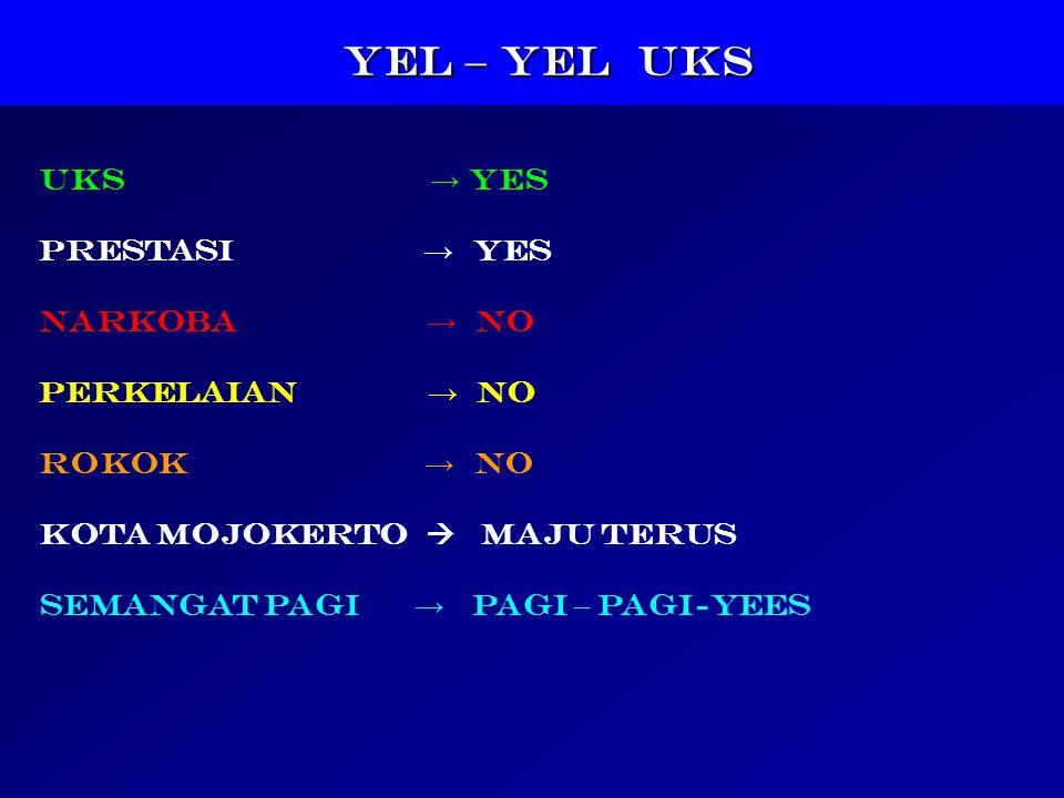 YEL – YEL UKS UKS → YES PRESTASI → YES NARKOBA → NO PERKELAIAN → NO