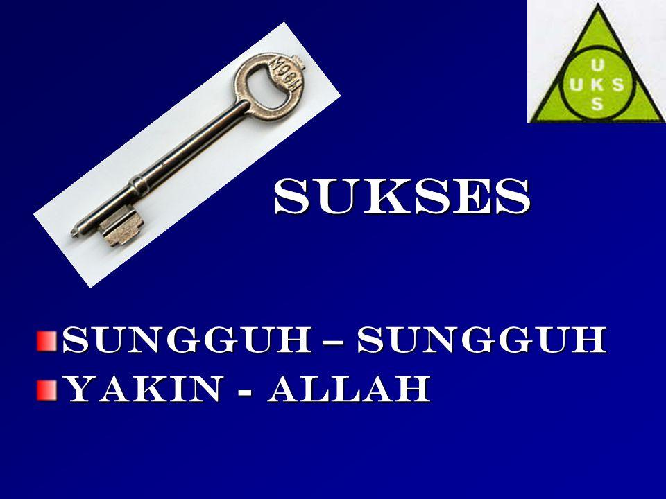 sukses SUNGGUH – SUNGGUH YAKIN - ALLAH