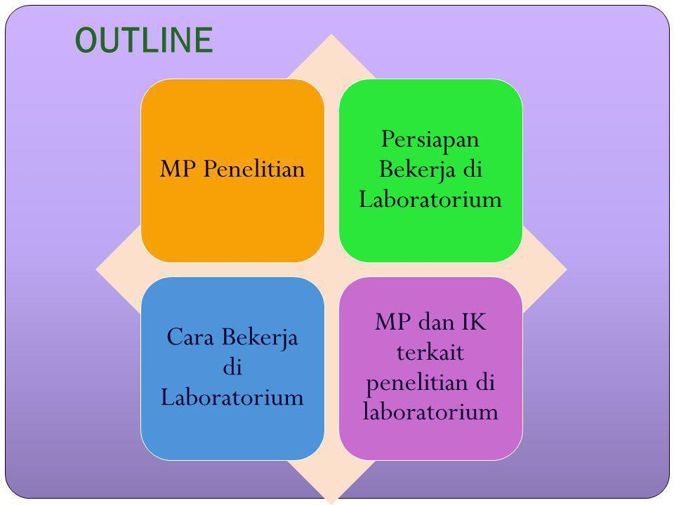 OUTLINE MP Penelitian Persiapan Bekerja di Laboratorium