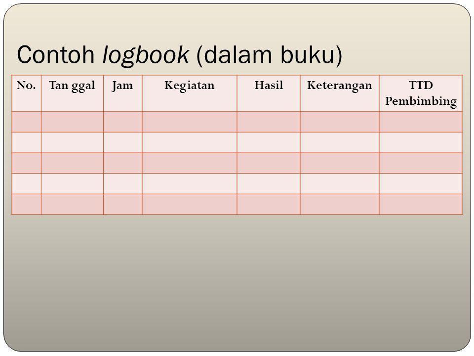 Contoh logbook (dalam buku)