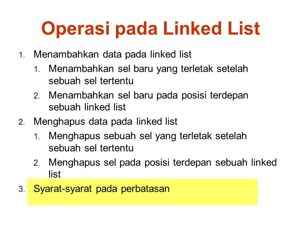 Operasi pada Linked List