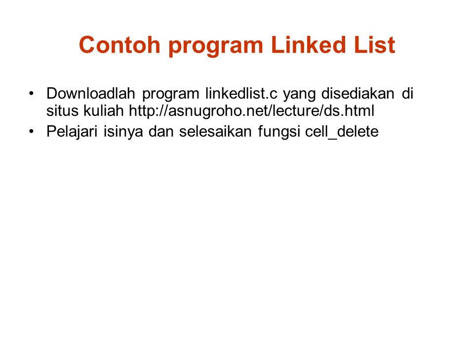 Contoh program Linked List