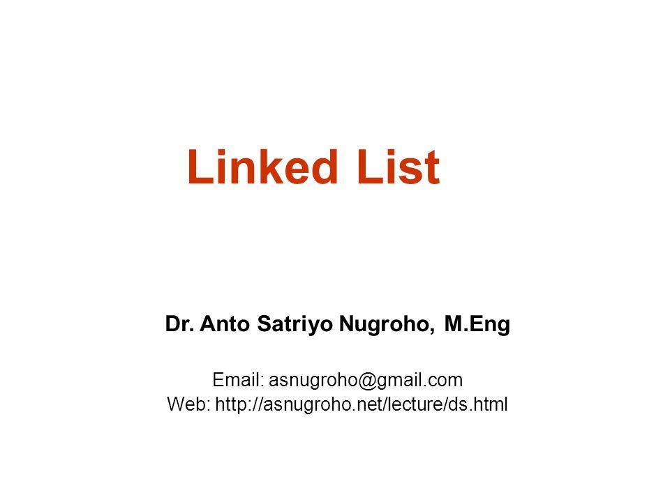 Dr. Anto Satriyo Nugroho, M.Eng