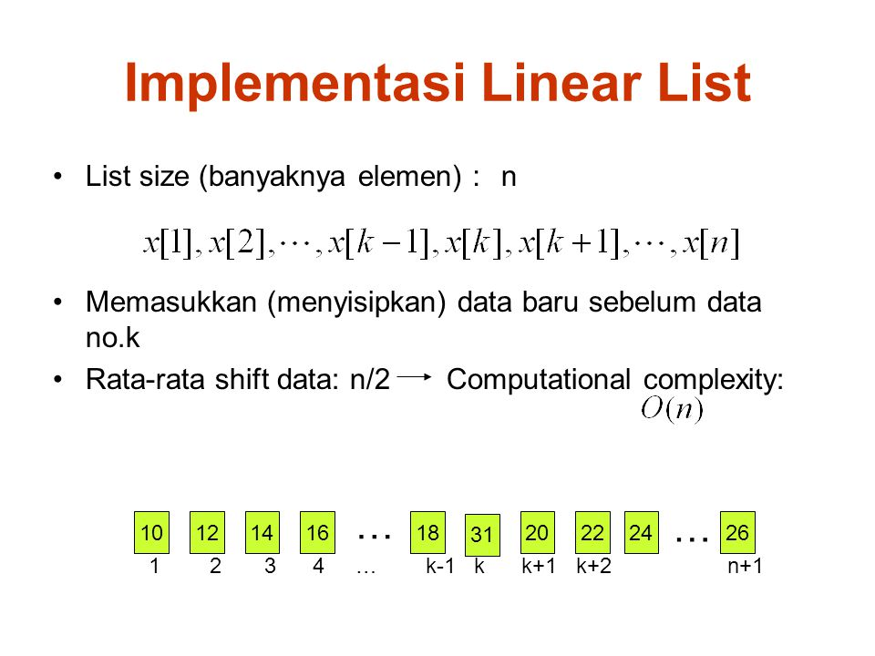 Implementasi Linear List