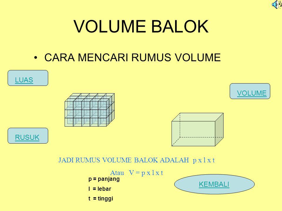 VOLUME BALOK CARA MENCARI RUMUS VOLUME LUAS VOLUME RUSUK