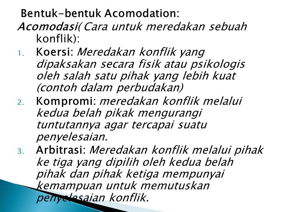 Bentuk-bentuk Acomodation: