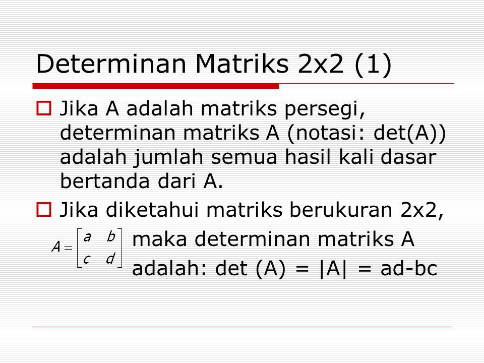 Determinan Matriks 2x2 (1)