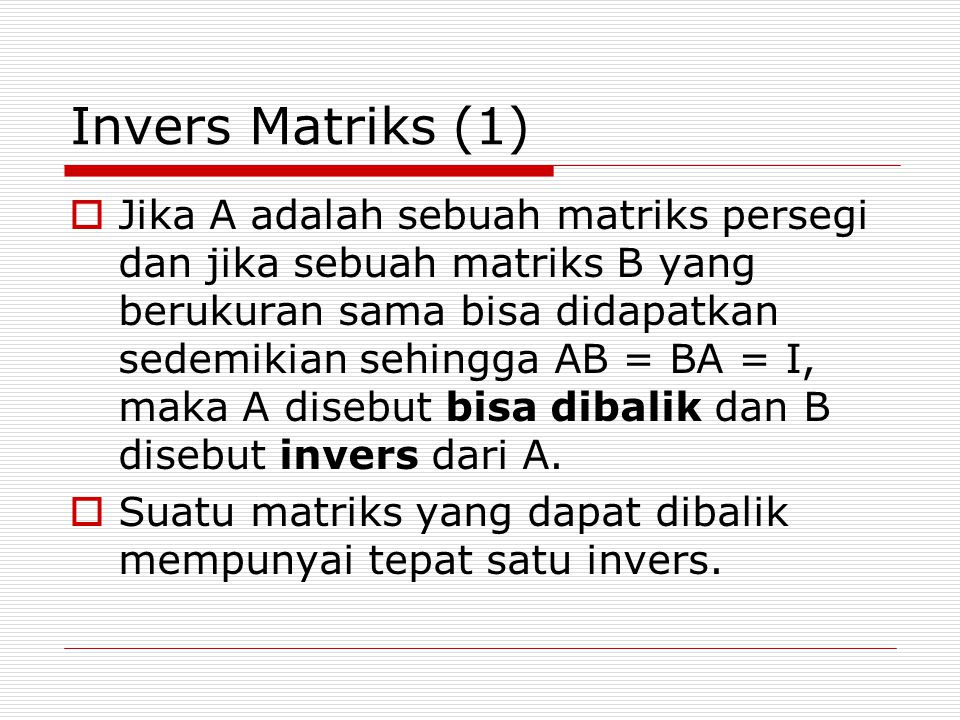 Invers Matriks (1)