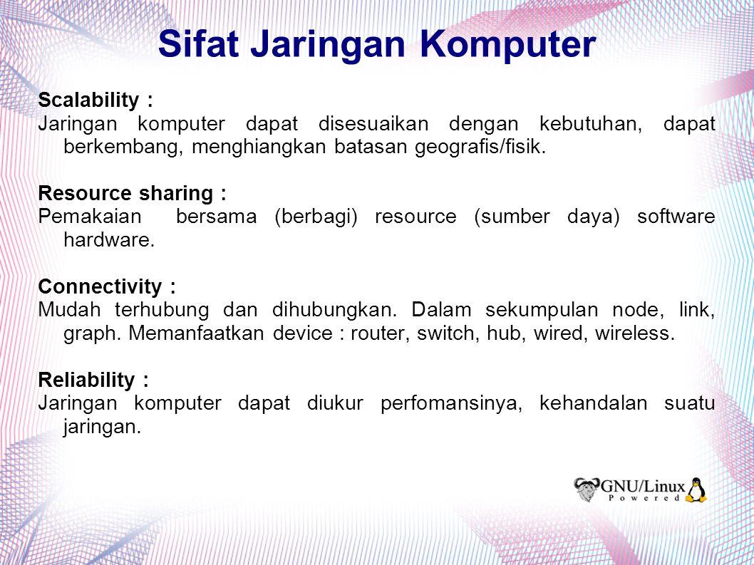 Sifat Jaringan Komputer