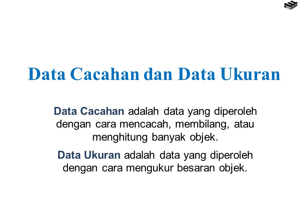 Data Cacahan dan Data Ukuran