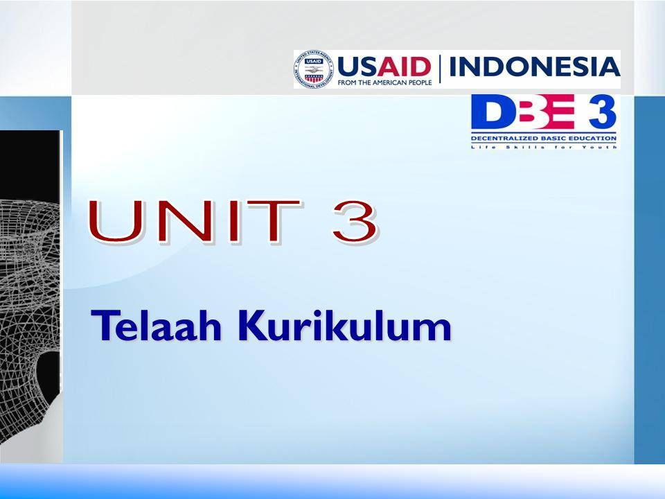UNIT 3 Telaah Kurikulum