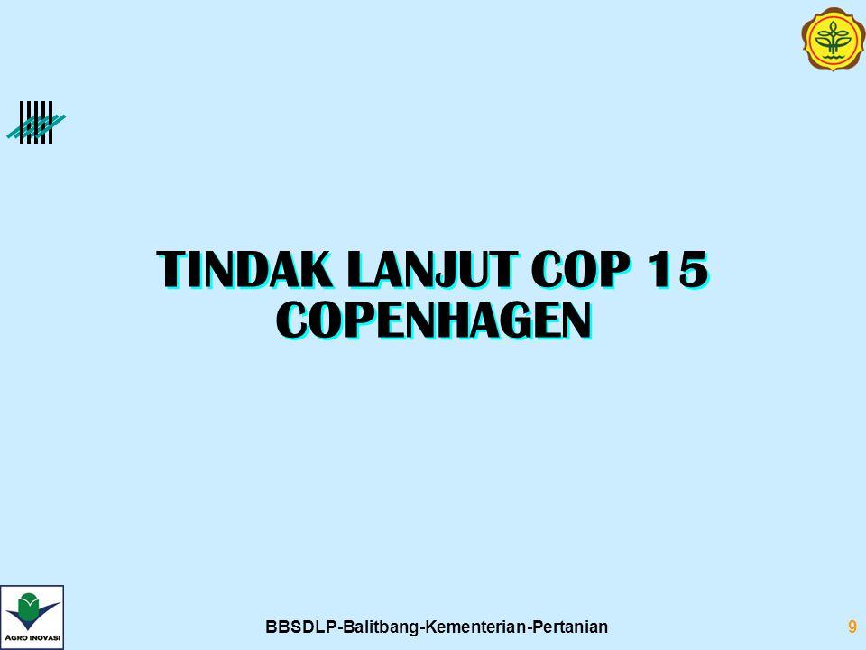 TINDAK LANJUT COP 15 COPENHAGEN BBSDLP-Balitbang-Kementerian-Pertanian