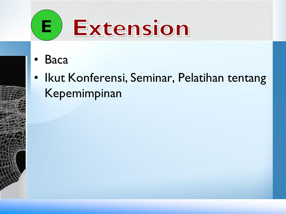 E Extension Baca Ikut Konferensi, Seminar, Pelatihan tentang Kepemimpinan