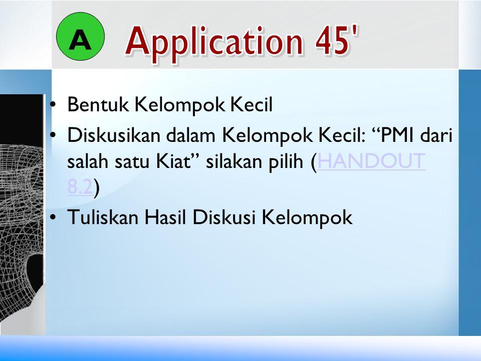 A Application 45 Bentuk Kelompok Kecil