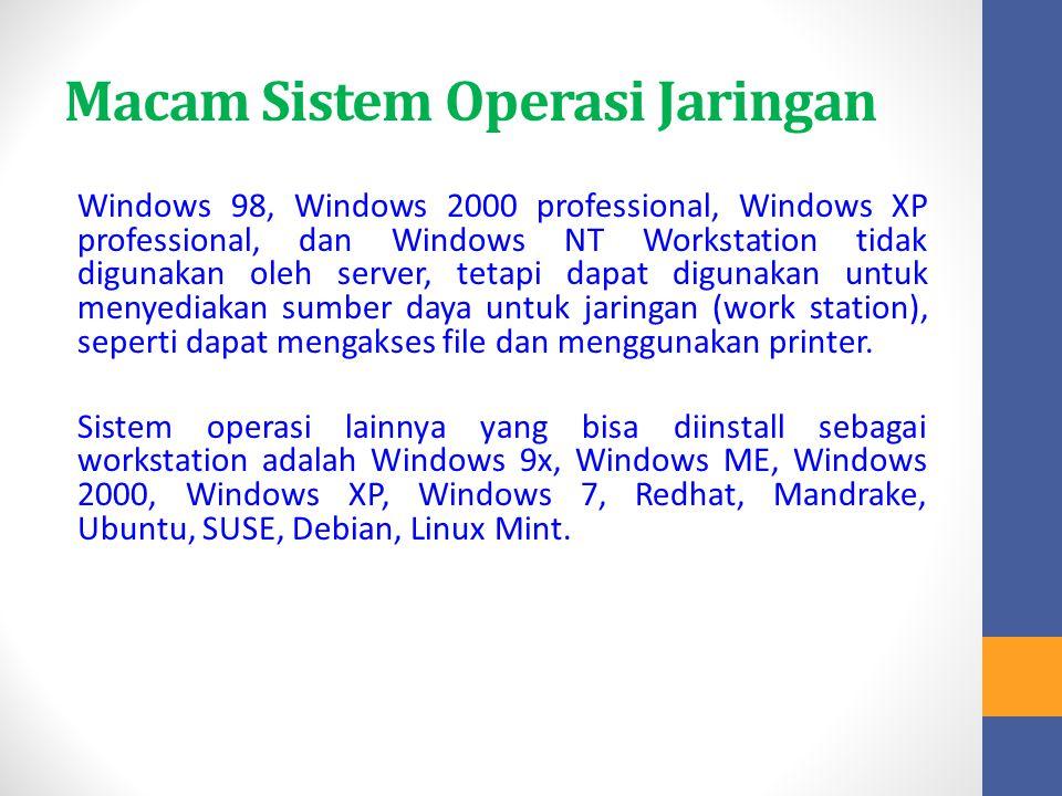 Macam Sistem Operasi Jaringan