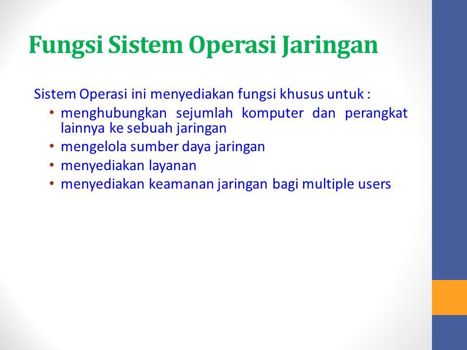 Fungsi Sistem Operasi Jaringan