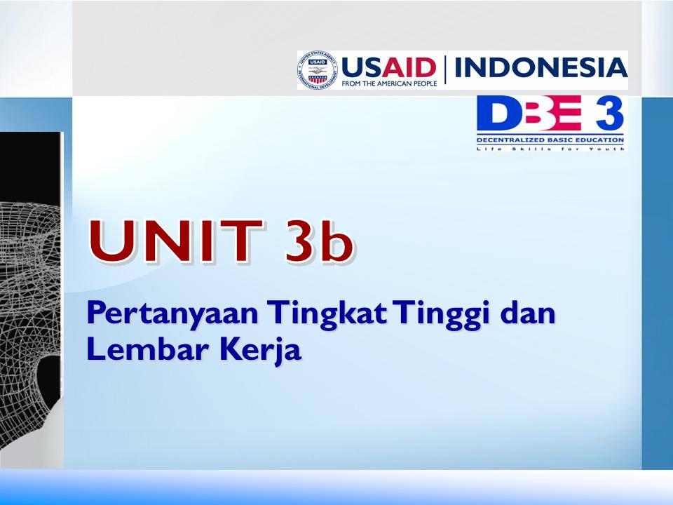 UNIT 3b Pertanyaan Tingkat Tinggi dan Lembar Kerja
