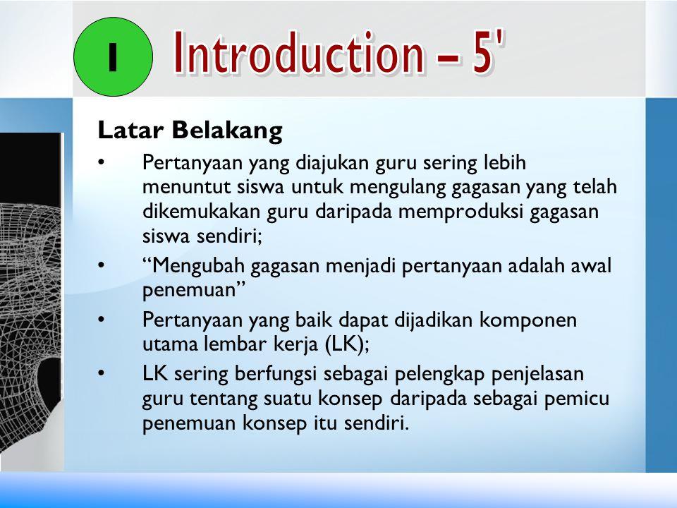 I Introduction – 5 Latar Belakang