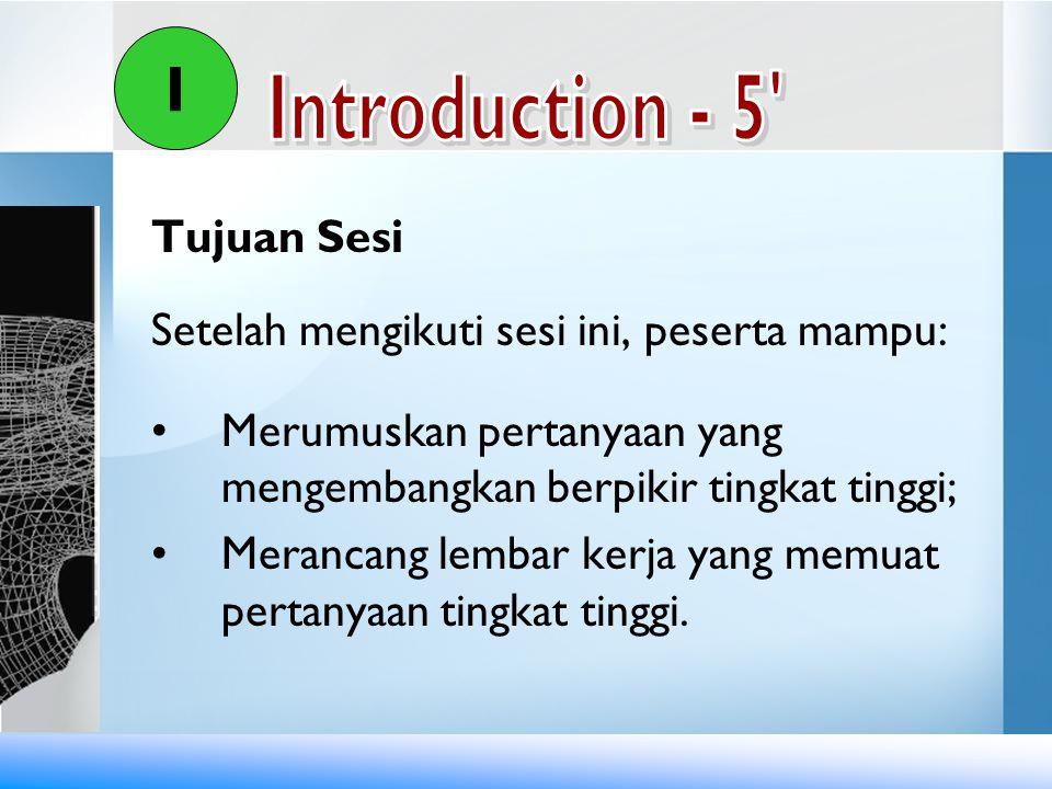 I Introduction - 5 Tujuan Sesi