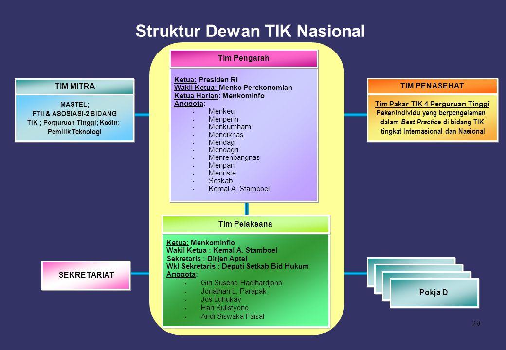 Struktur Dewan TIK Nasional