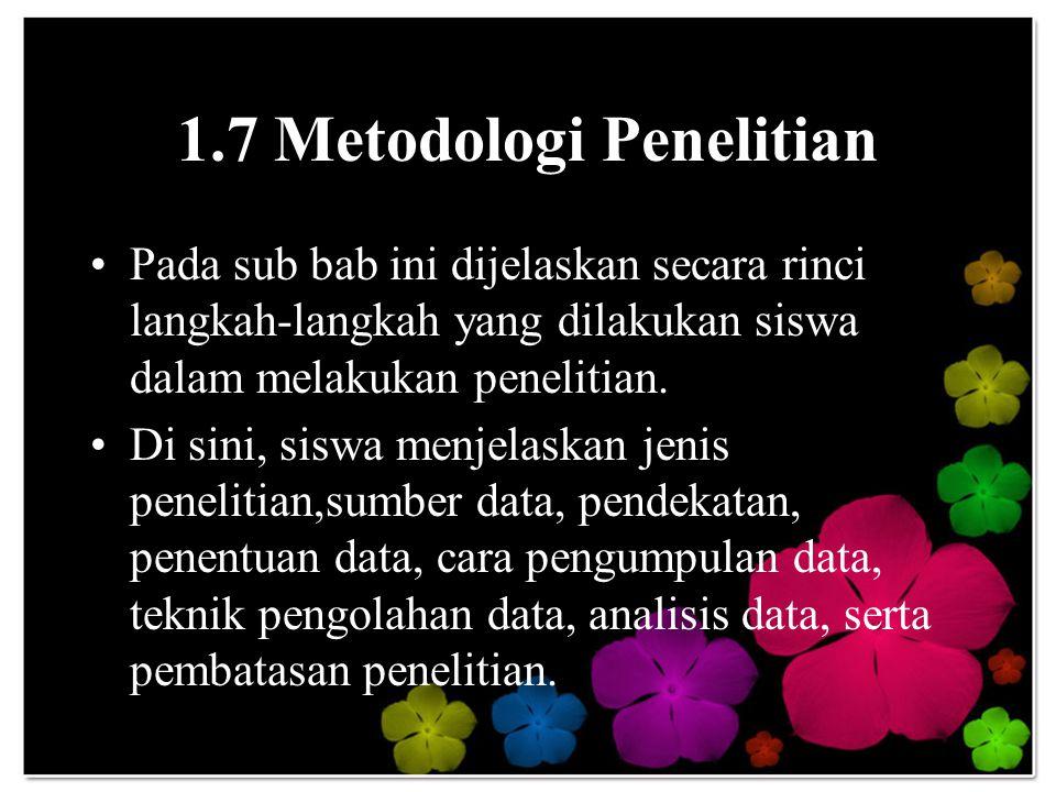 1.7 Metodologi Penelitian