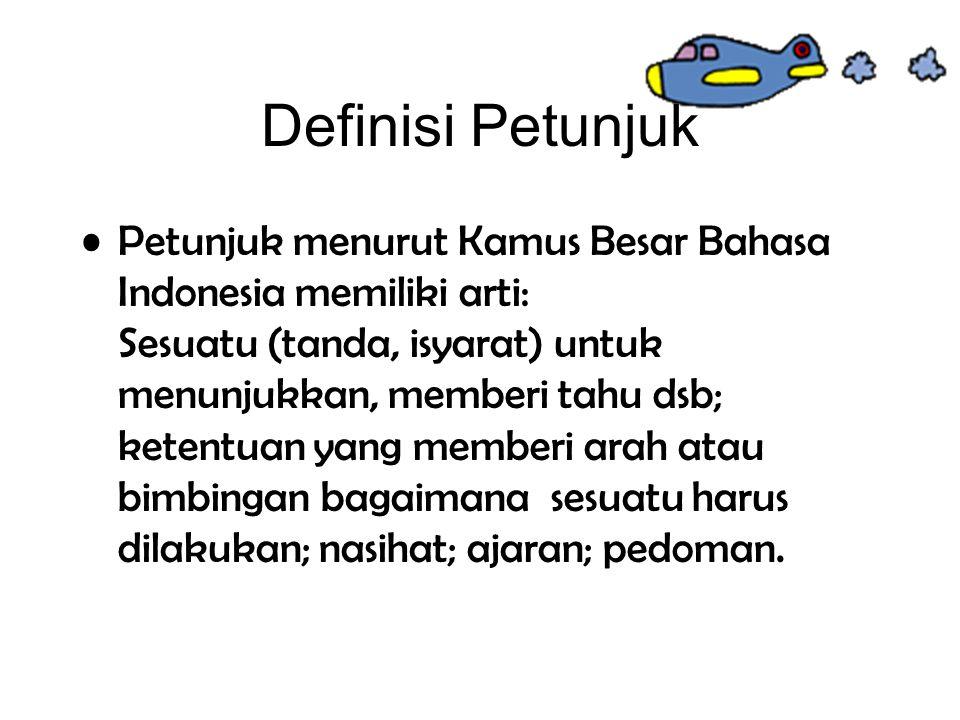 Definisi Petunjuk
