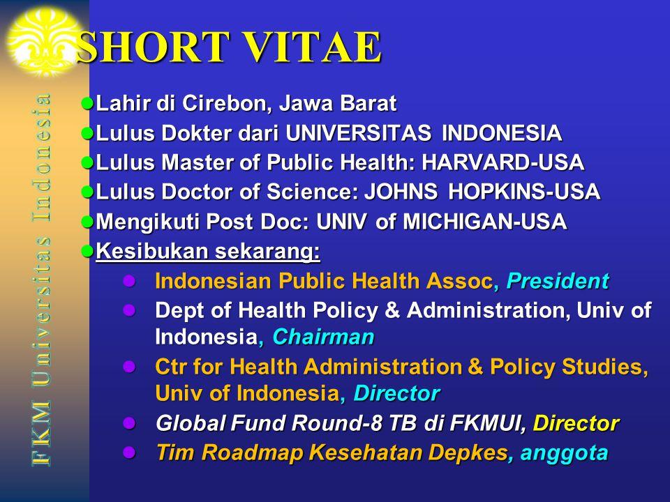 SHORT VITAE Lahir di Cirebon, Jawa Barat