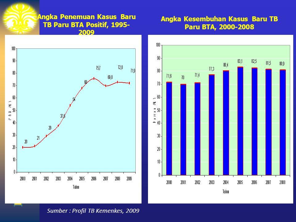 Angka Penemuan Kasus Baru TB Paru BTA Positif, 1995-2009