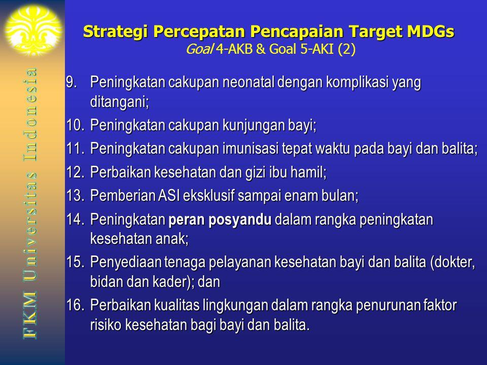 Strategi Percepatan Pencapaian Target MDGs Goal 4-AKB & Goal 5-AKI (2)