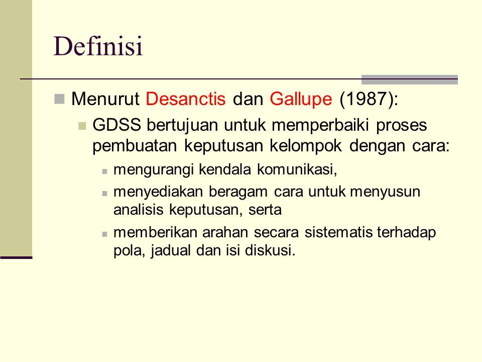 Definisi Menurut Desanctis dan Gallupe (1987):
