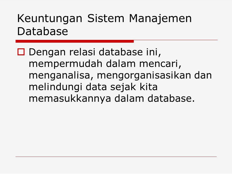 Keuntungan Sistem Manajemen Database