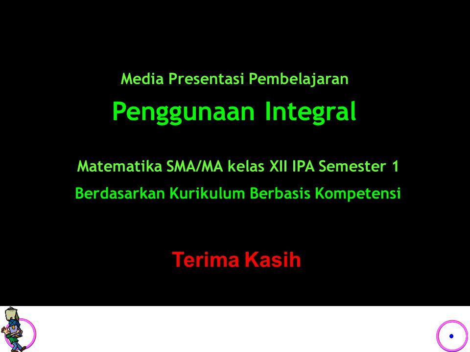 Penggunaan Integral Terima Kasih Media Presentasi Pembelajaran