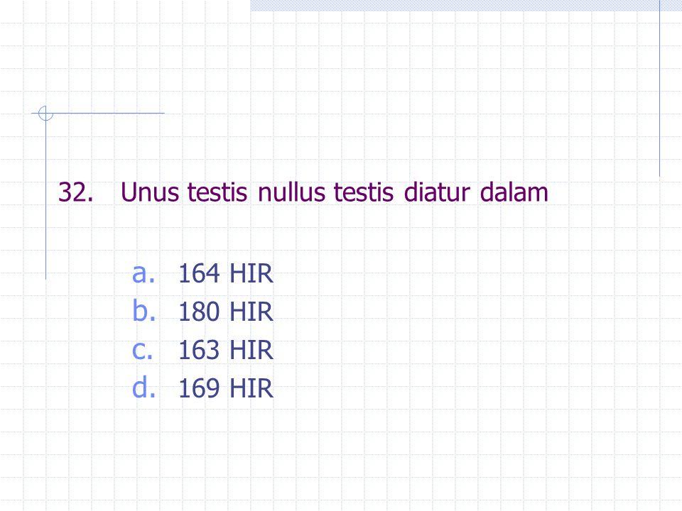 32. Unus testis nullus testis diatur dalam
