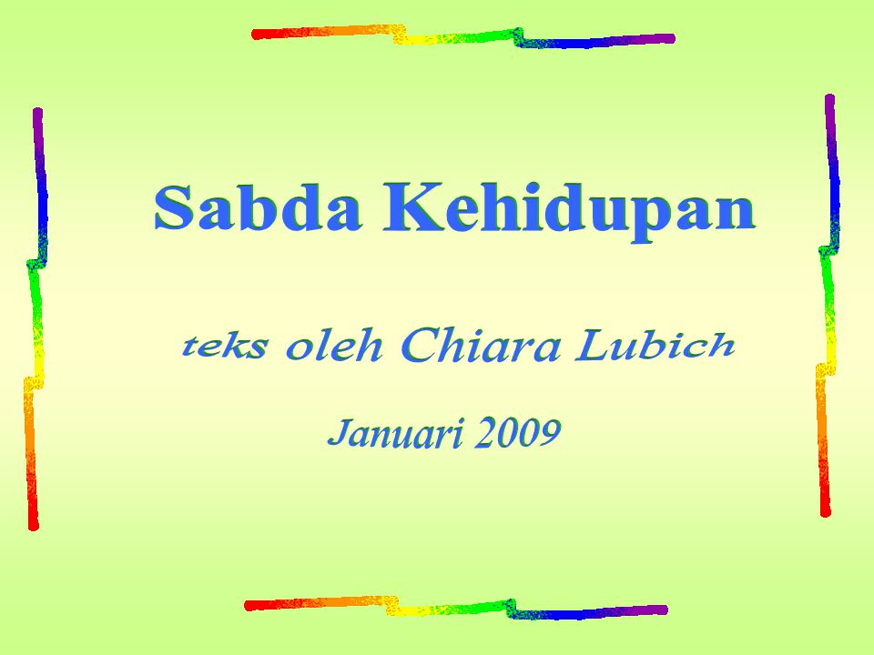 teks oleh Chiara Lubich