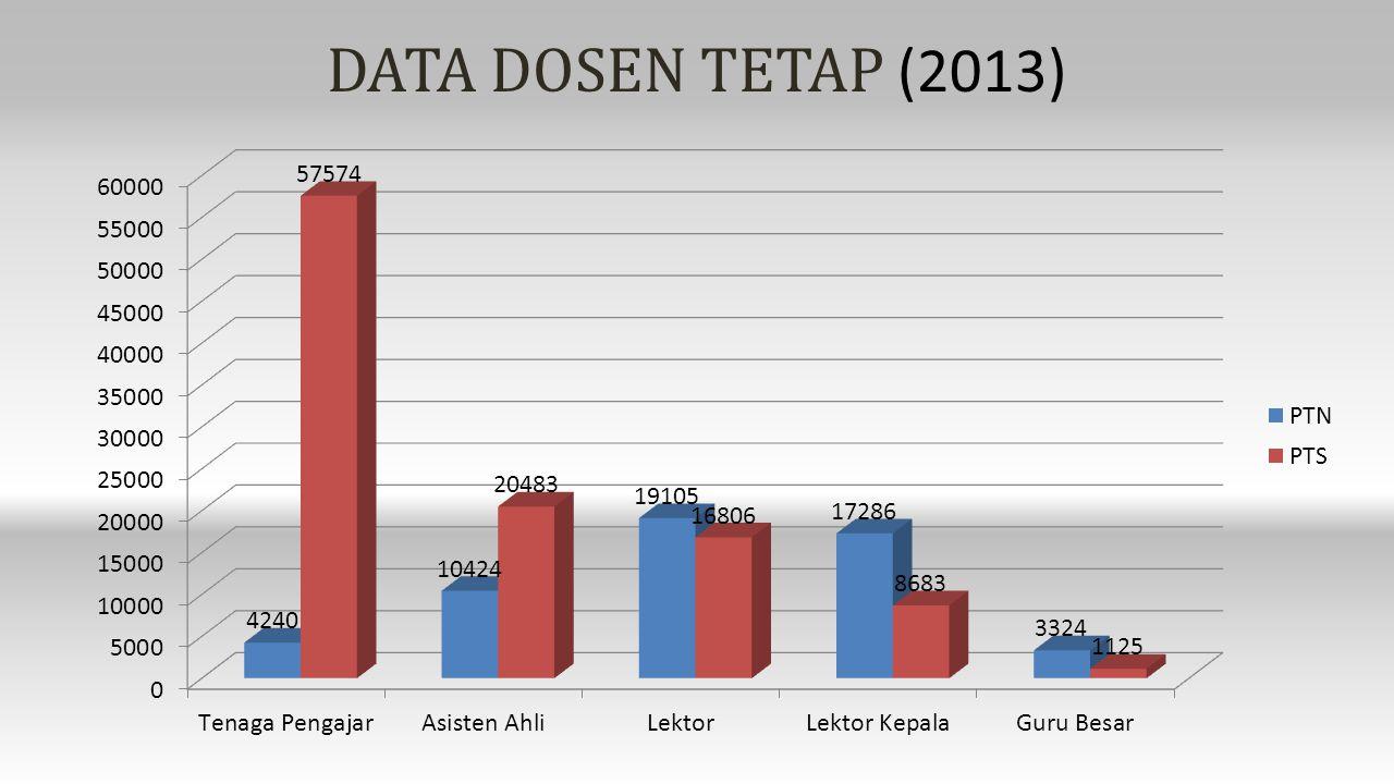 DATA DOSEN TETAP (2013)