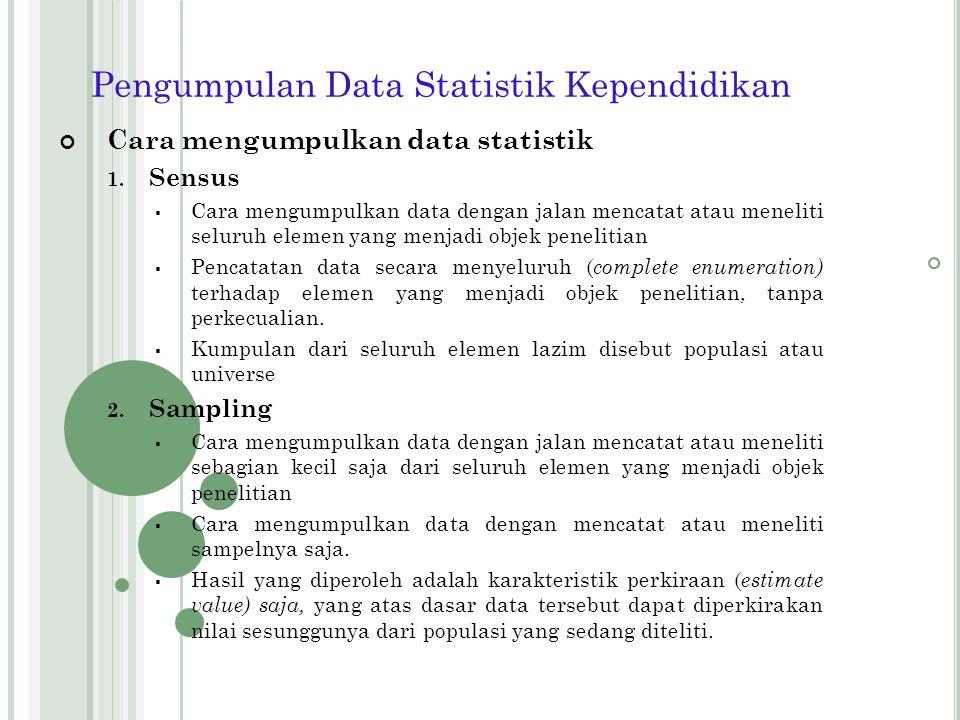 Pengumpulan Data Statistik Kependidikan