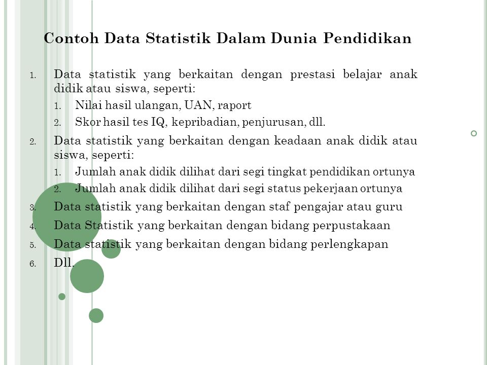 Contoh Data Statistik Dalam Dunia Pendidikan