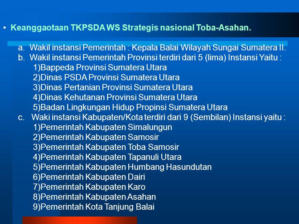 Keanggaotaan TKPSDA WS Strategis nasional Toba-Asahan.