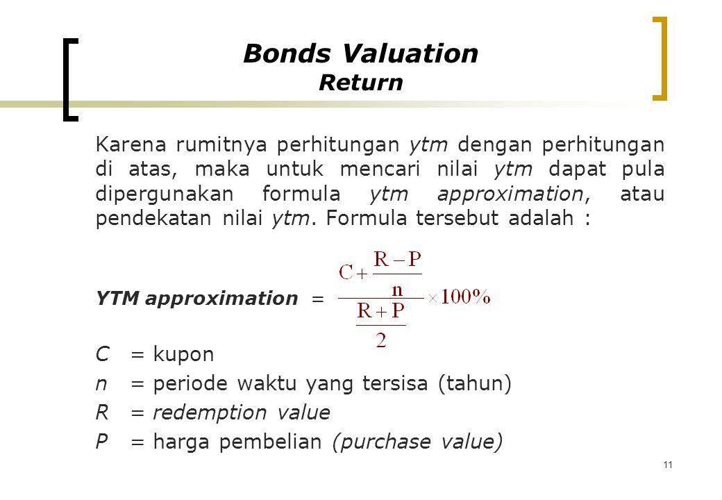 Bonds Valuation Return