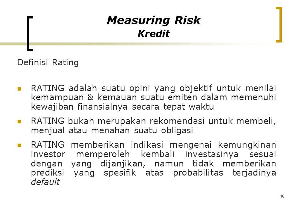 Measuring Risk Kredit Definisi Rating