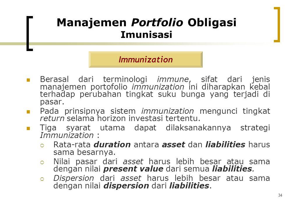 Manajemen Portfolio Obligasi Imunisasi
