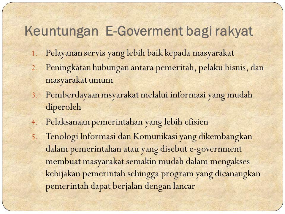 Keuntungan E-Goverment bagi rakyat