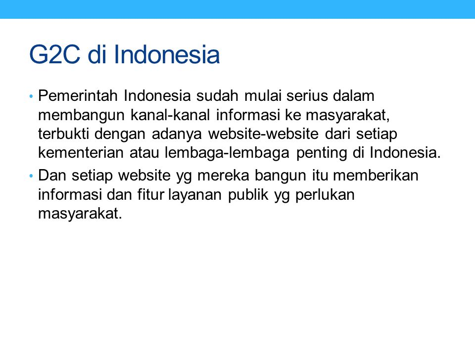 G2C di Indonesia