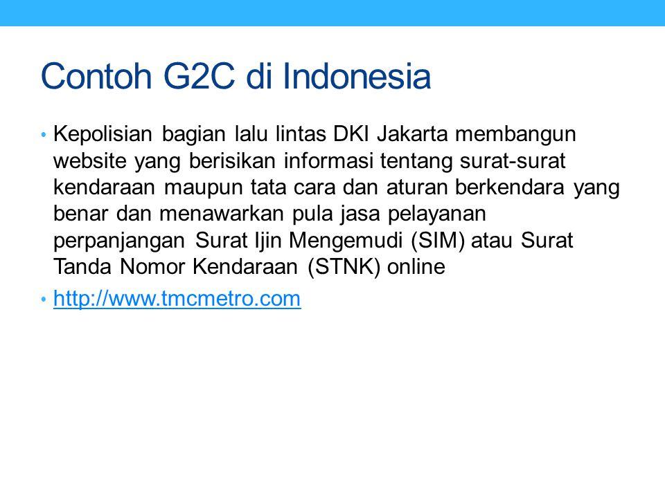 Contoh G2C di Indonesia
