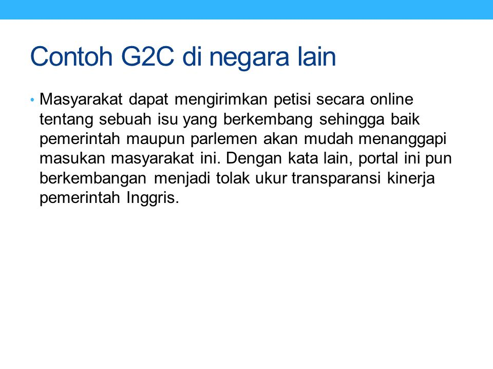Contoh G2C di negara lain