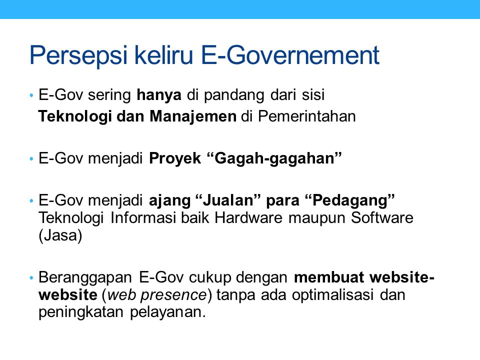 Persepsi keliru E-Governement