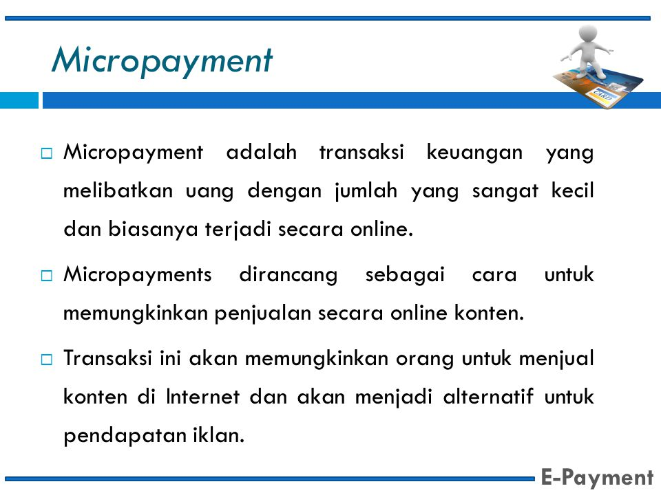 Micropayment E-Payment