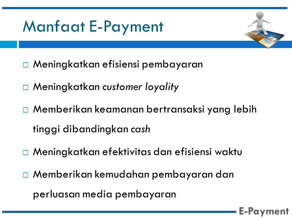 Manfaat E-Payment Meningkatkan efisiensi pembayaran