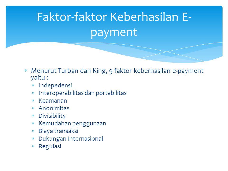 Faktor-faktor Keberhasilan E-payment